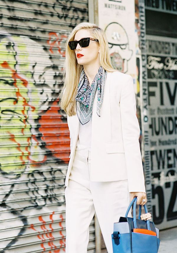 Style Tip: Drape the bulk of your scarf in front for a western-inspired result.