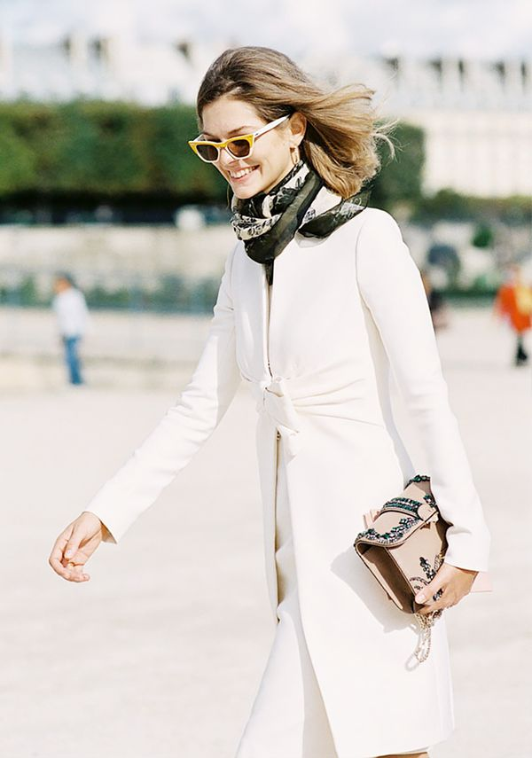 Style Tip: For a fashion editor look, tuck your scarf into your coat.  Keep scrolling to shop our favourite scarves!