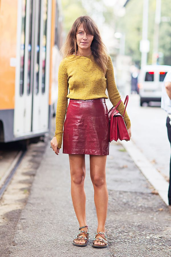 How to wear a yellow mini skirt – The most popular models skirts
