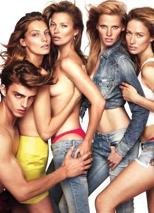 W Magazine's Sexy Supermodel-Filled November Cover