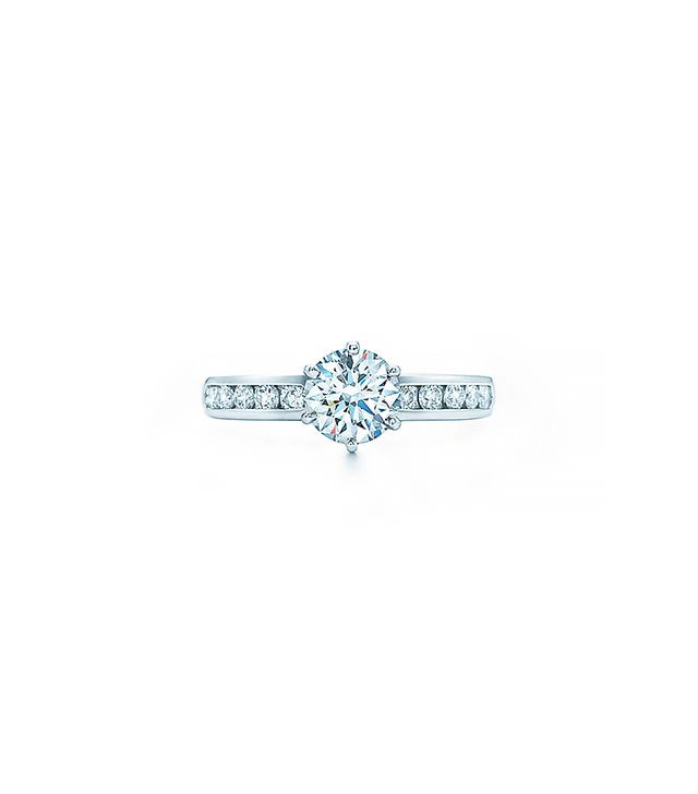 Tiffany & Co. The Tiffany Setting with Diamond Band