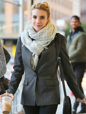 Emma Roberts Takes Outfit Cues From the Boys