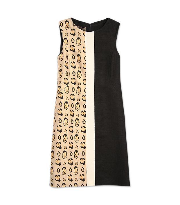 Giambattista Valli Leopard Colorblock Dress