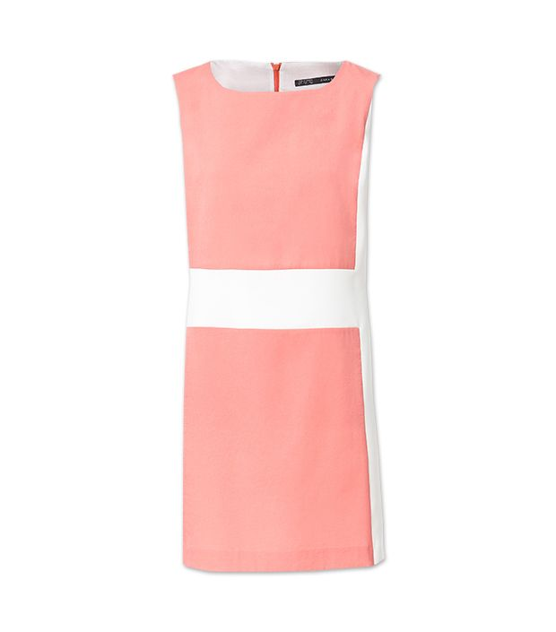 Zara Geometric Combination Shift Dress ($60)