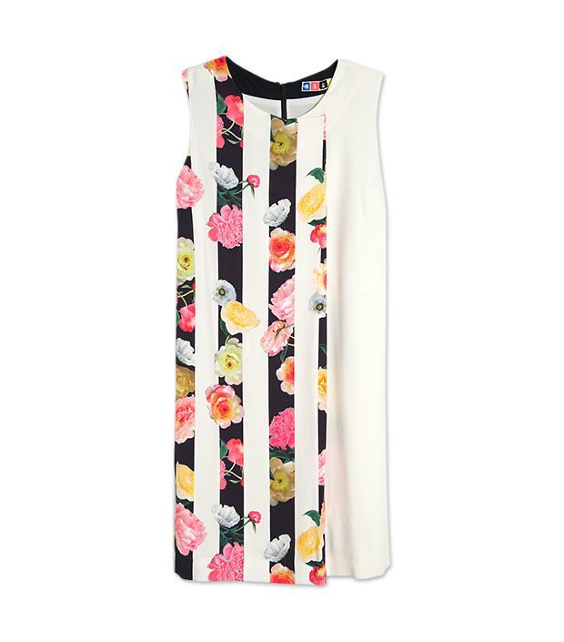 MSGM Floral Stripe Print Dress