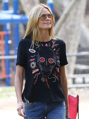 Heidi Klum Gets in the Halloween Spirit for Weekend Outing