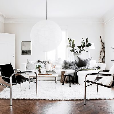 Shop the Room: A Cozy Black and White Living Room