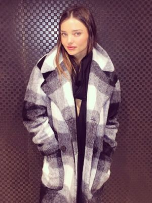 FOUND: Miranda Kerr's Super Cozy Cocoon Coat