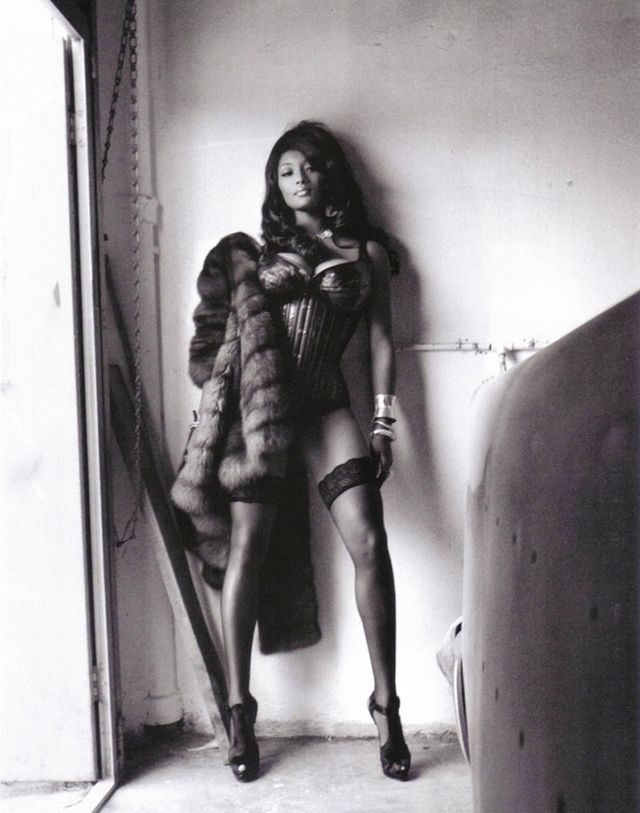 Tsjessierawk in coat amp stockings only