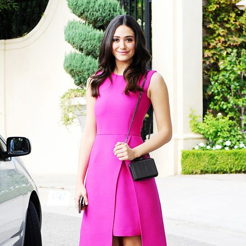 Emmy Rossum pink dress