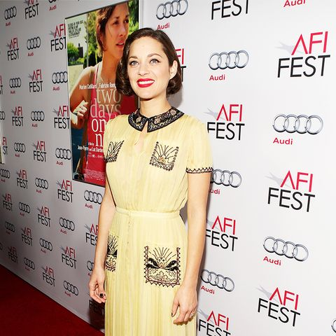 Marion Cotillard Yellow Collar Dress