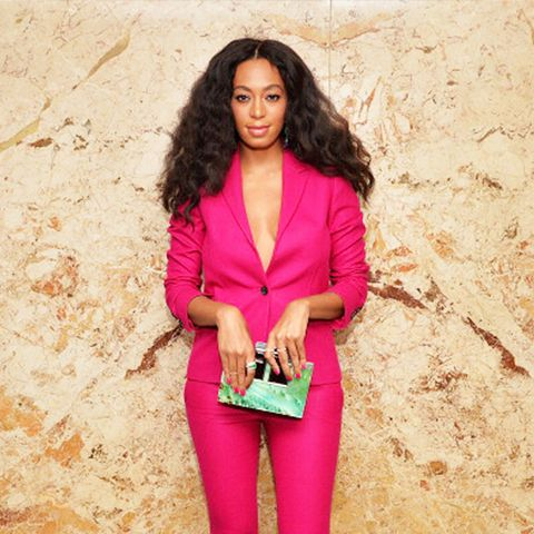 Solange Knowles pink suit