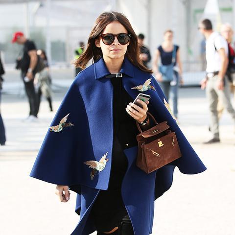 Miroslava Duma blue cape