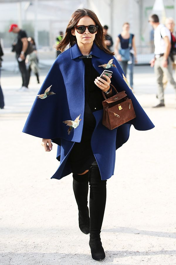 Style Notes: If one of our favourite fashion influencers Miroslava Duma is rocking the deep blue colour, then you know it's a goer.
