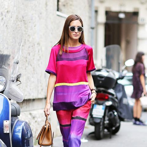 Gala Gonzalez Amlul Street Style Pink Stripes