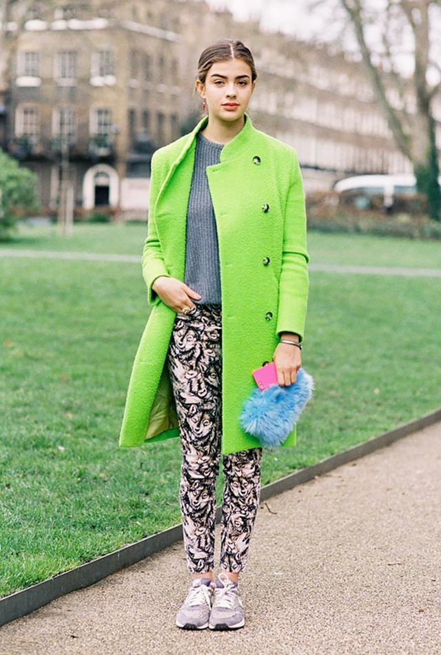 Get Bright! 13 Ways to Wear a Colorful Coat This Season