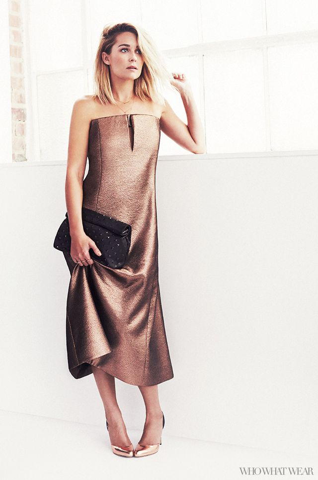 Glam Cocktail Dress + Metallic Heels