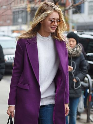 Gigi Hadid Proves Once Again That Her Coat Game is On-Point