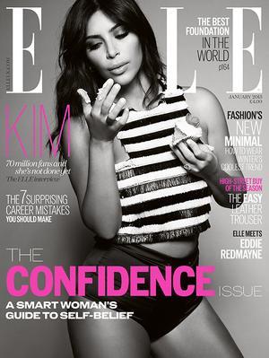 Kim Kardashian's 3 Covers For Elle UK