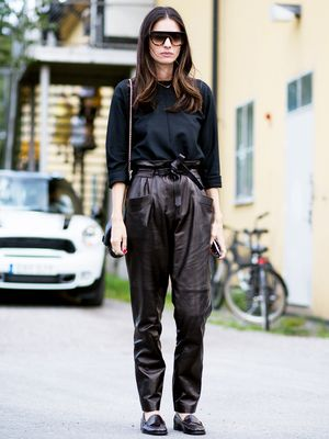 Tip of the Day: What to Pair With Leather Pants