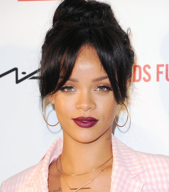 Rihanna KILLS It With a Perfect Oxblood Lip