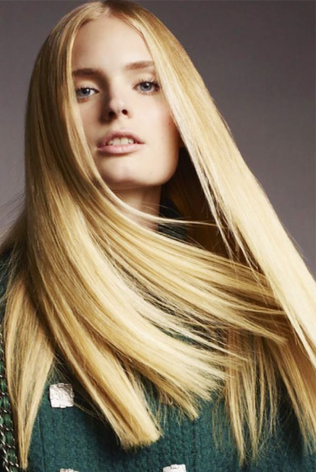 Blunt ends and stick-straight strands—a daring cut that translates beyond editorial.