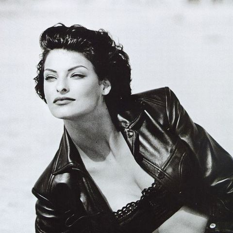 6. Contrast a tough leather jacket with a lace balconette bra.