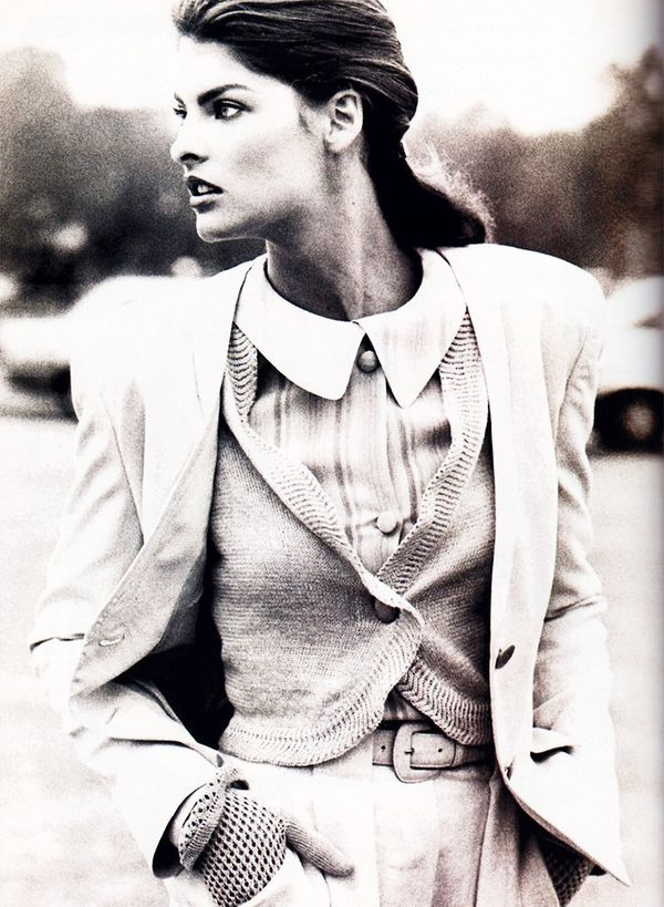 15. Layer a cardigan over a shirt, and top it with a blazer.