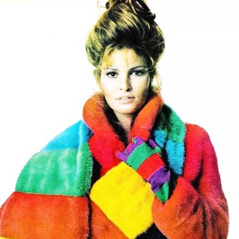 41. Break out of your black and brown box with colourful faux fur.