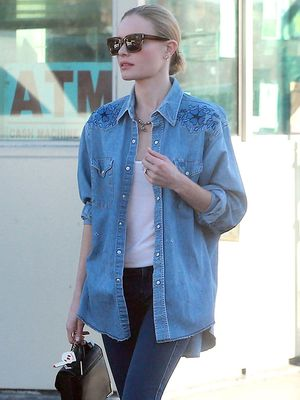 Blue Crush: Kate Bosworth's Double Denim is Perfect
