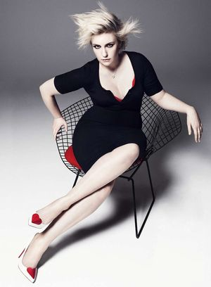 Lena Dunham Goes '80s Rocker Chic For Her Elle Magazine Spread