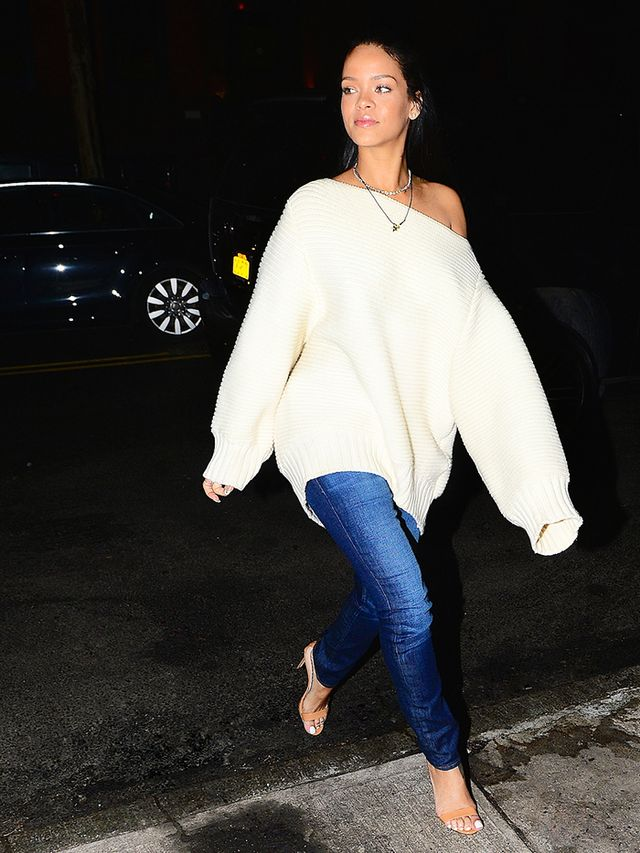 Rihanna Shows Us All How To Wear Chunky Knits Without