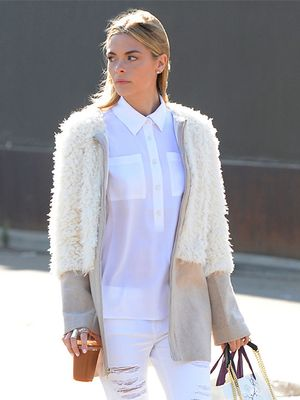 Jaime King Leaves Caudalie Boutique in the Perfect Mix of Neutrals