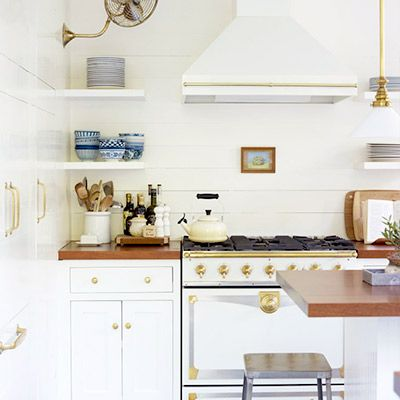 Inside the Perfect White and Brass Kitchen
