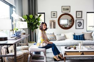 Check Out the Amazing New Living Room of a Major Blogger