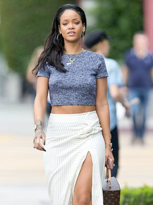 Rihanna Shows Some Leg (and Abs) While Shopping in LA