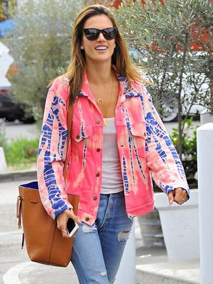 Festival Season Must-Have: Alessandra Ambrosio's Tie-Dye Jacket