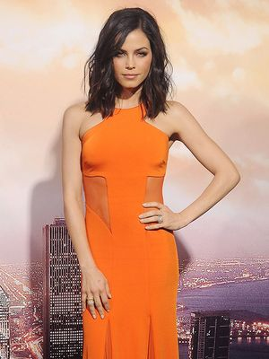 Jenna Dewan-Tatum Steals the Spotlight in Smoldering Orange Dress