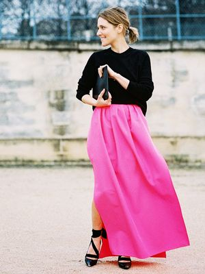 The Chic Way to Wear a Maxi Skirt (Yes, It's Possible)