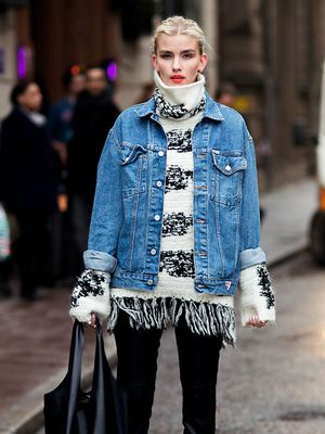 Why Your Jean Jacket and Turtleneck Should Meet