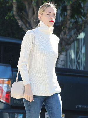 Jaime King Gives Her Turtleneck a Cool and Casual Vibe