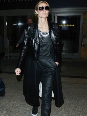 Have to Have It: Heidi Klum's Leather-Look Overalls