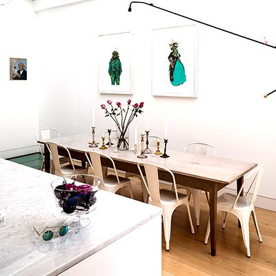 Inside a Boldly Artistic London Gallery Home