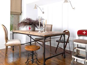 Get the Look: An Industrial, Antique-Filled Dining Space