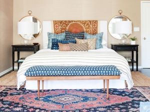 Before and After: A Perfectly California Eclectic Bedroom