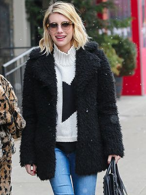 Cool and Cozy: Emma Roberts Braves the NYC Snow in Winter Must-Haves