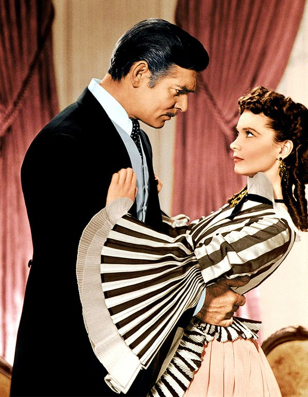 Rhett and Scarlett in Gone With the Wind