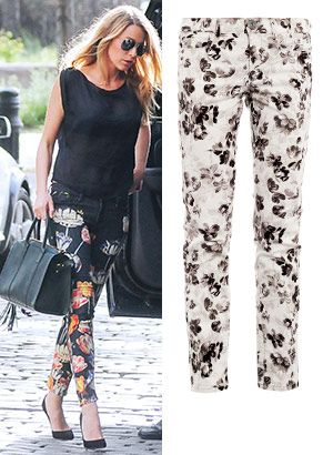 Check Out How Stars Wear Feminine Floral Jeans