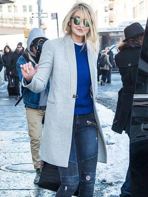 Where to Buy Gigi Hadid's Affordable Blue Sweater