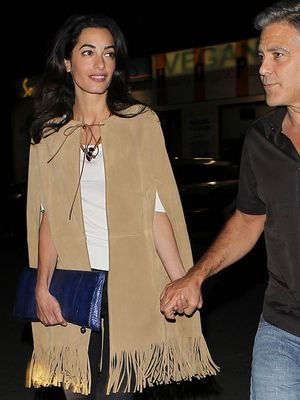 Amal Clooney's High-Fashion Date Night Look